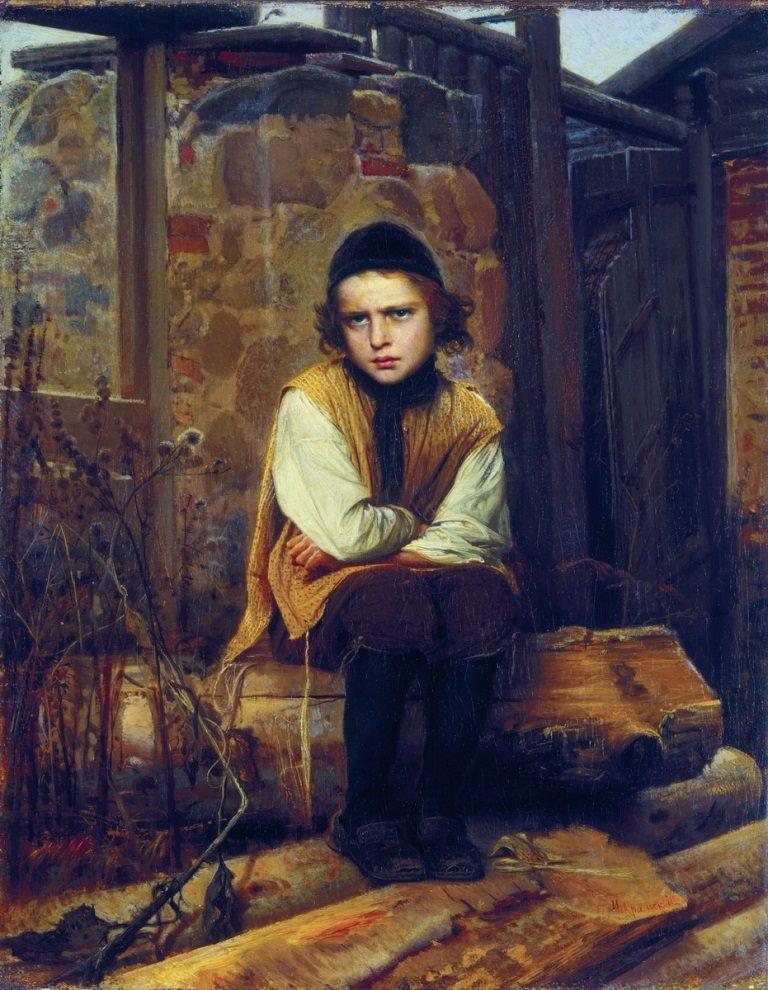 Оскорбленный еврейский мальчик. 1874
