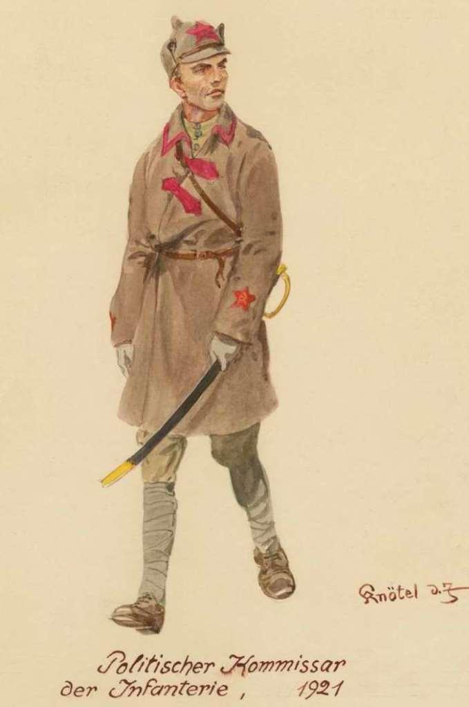 Пехотный политкомиссар Красной Армии. 1921