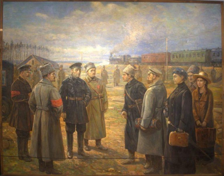 Передача семьи Романовых Уралсовету. 1927