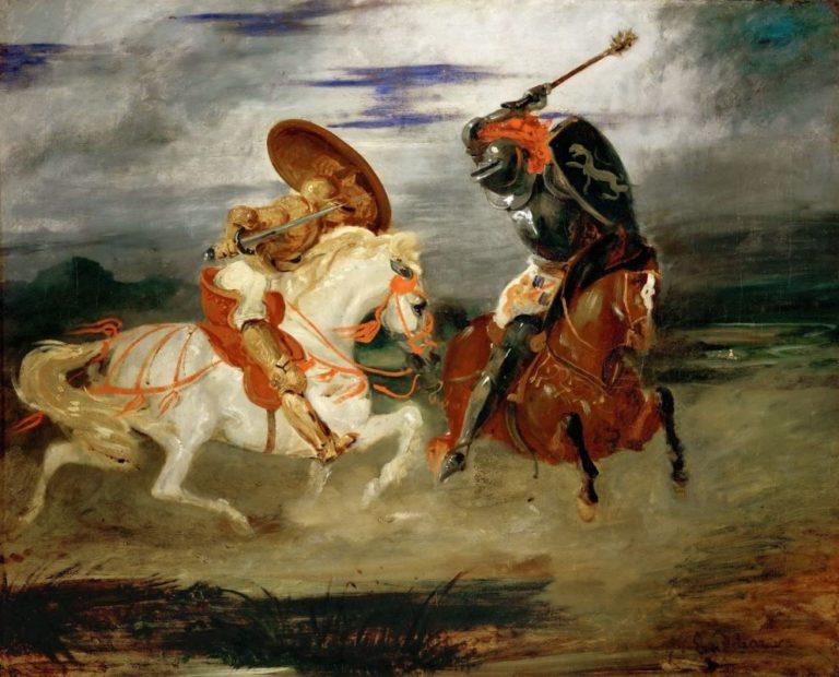 Поединок двух рыцарей. 1824