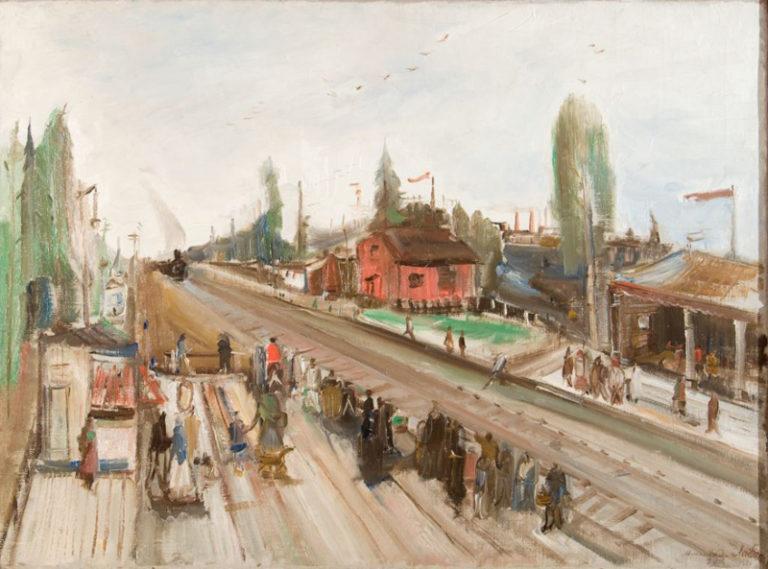 Поезд в Москве. 1930-е