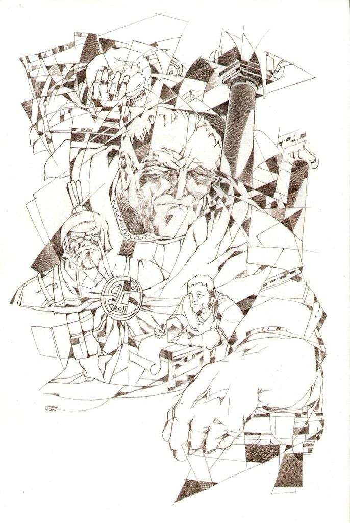 Понтий Пилат. Иллюстрация к роману «Мастер и Маргарита». 2007