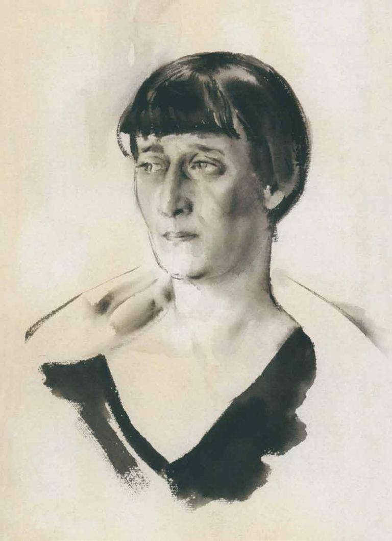 Портрет А. Ахматовой. 1928
