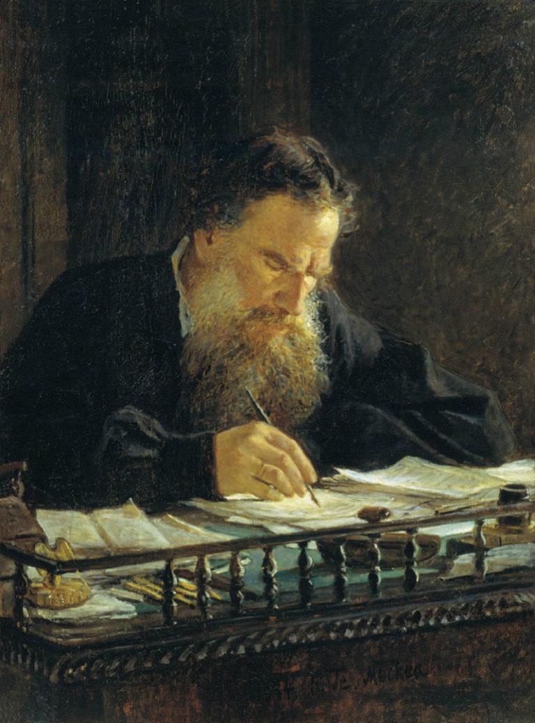 Портрет Л. Н. Толстого. 1884