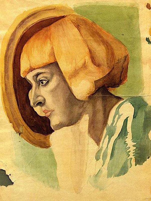 Портрет М. Цветаевой. 1933