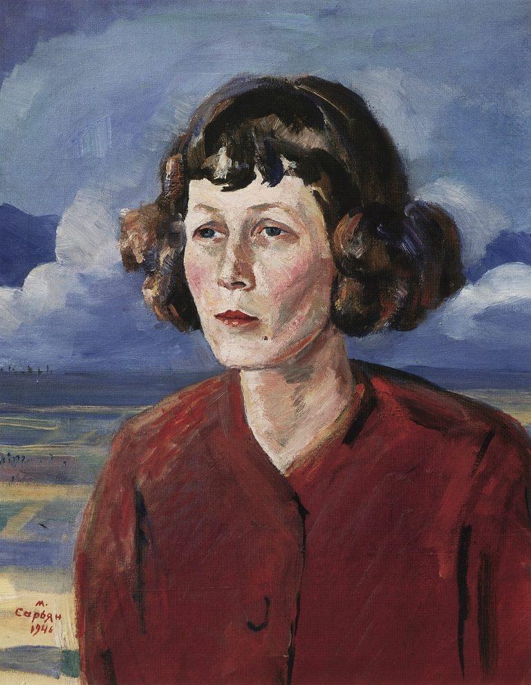 Портрет Марии Сергеевны Петровых. 1946