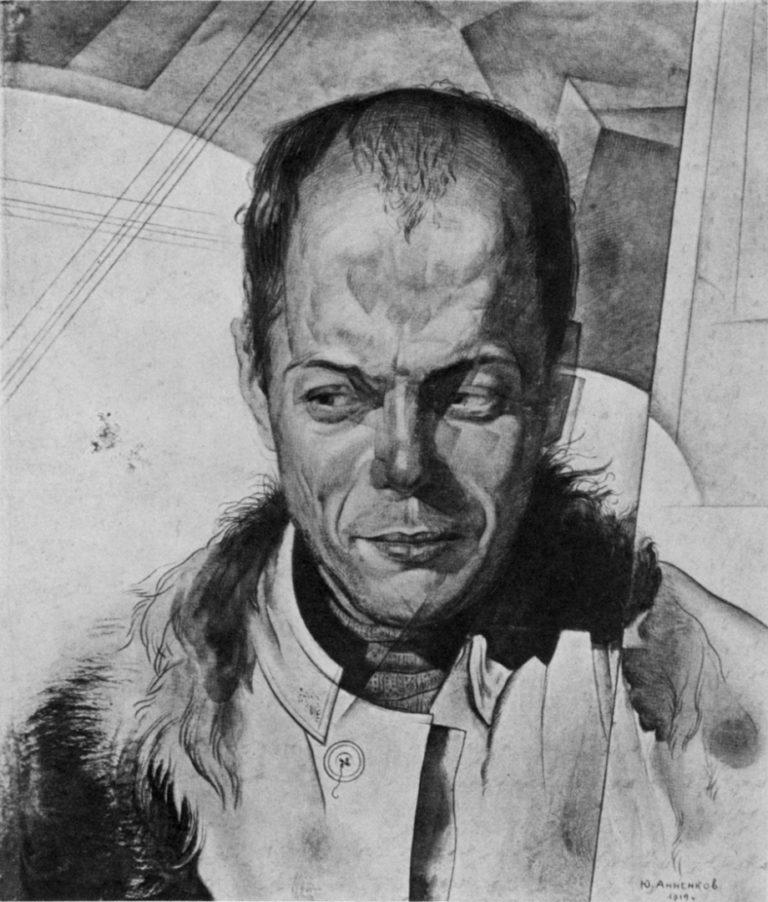 Портрет Виктора Шкловского. 1919