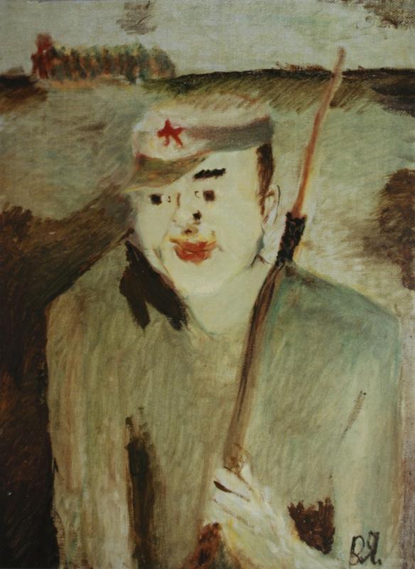 Портрет командира Красной Армии Н.Щорса. 1996