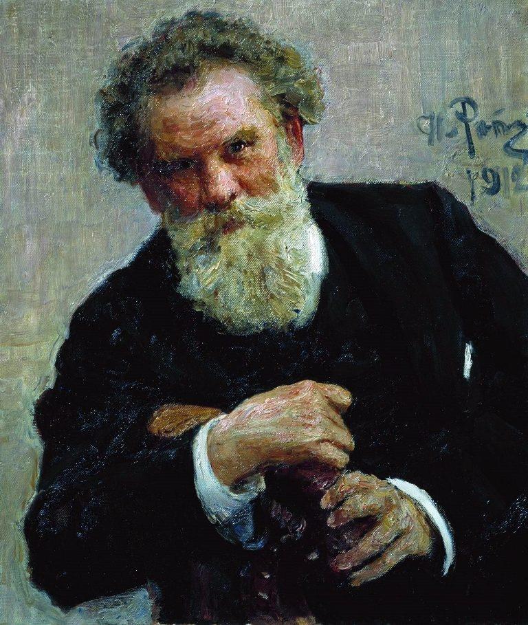 Портрет писателя В.Г. Короленко. 1912