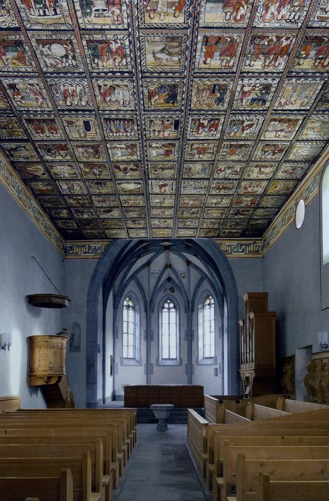Потолок церкви св. Мартина. 1109–1114. Циллис, Швейцария