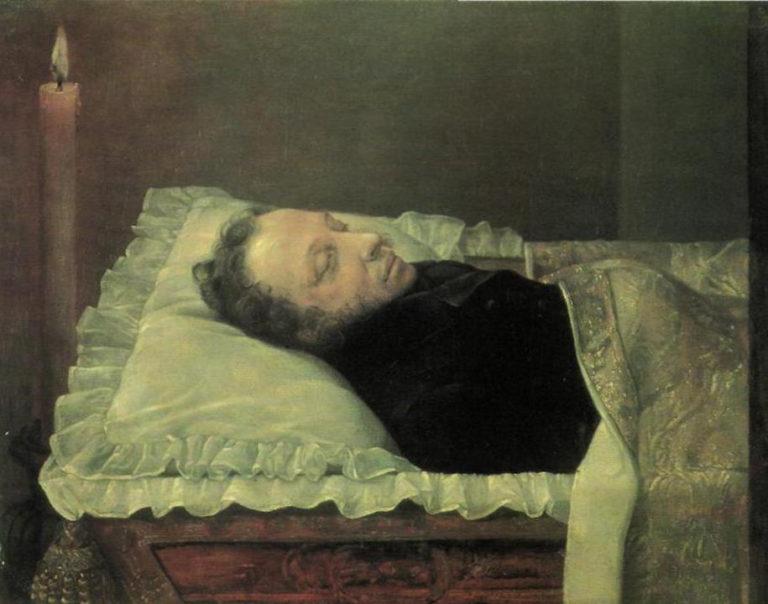 Пушкин на смертном одре. 1837