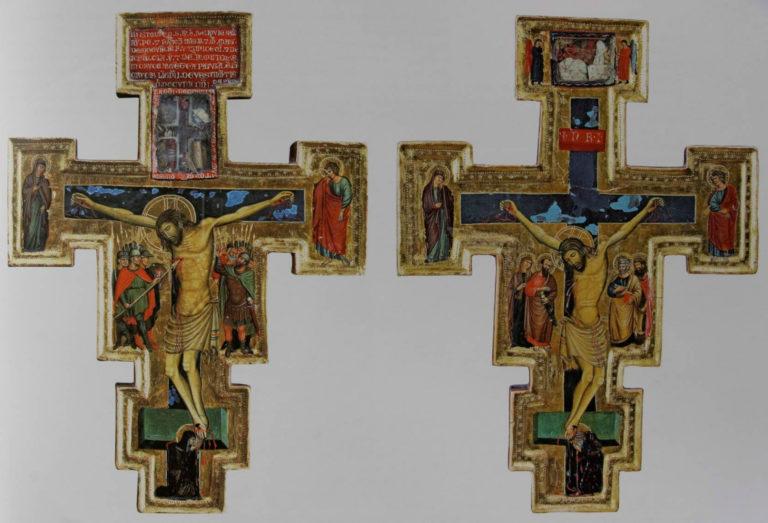 Распятие (обе стороны). Умбрия, XIII в.