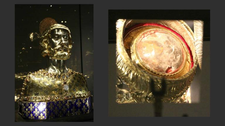Реликварий головы Карла Великого, заказанный Карлом IV Люксембургским. Ок. 1350 г.