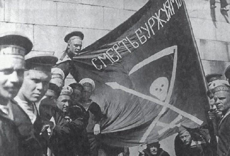 Революционные матросы-большевики. 1917