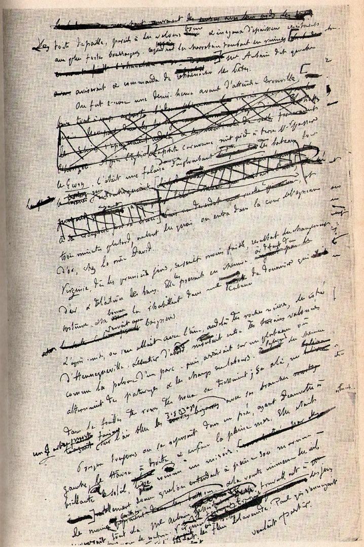 Рукопись новеллы Гюстава Флобера «Простая душа». 1877