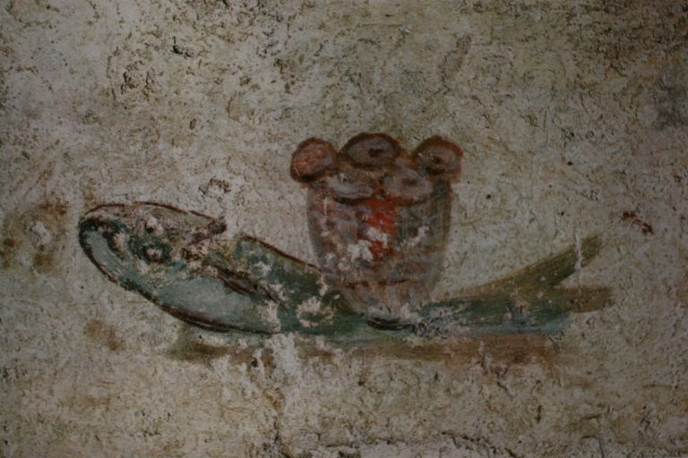 Рыба и евхаристический хлеб. Сер. III в.