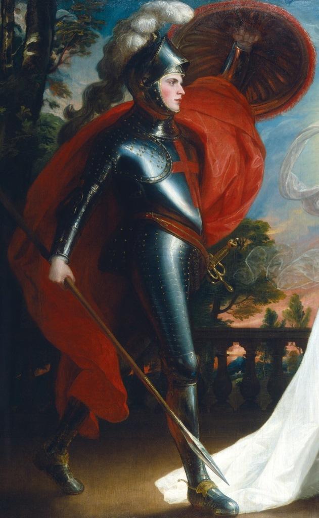 Рыцарь красного креста. Фрагмент. 1793
