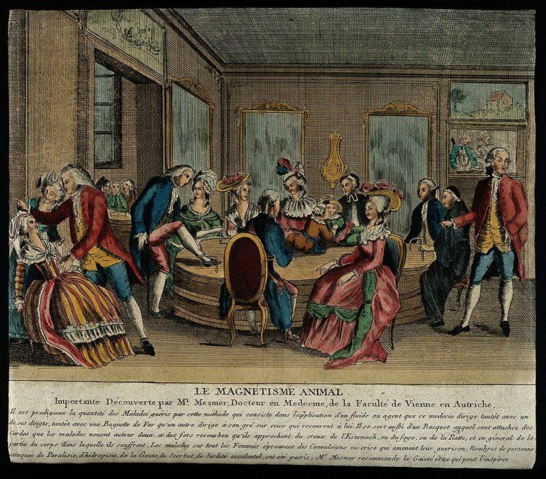 Сеанс групповой терапии доктора Месмера. Ок. 1780