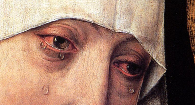 Скорбящая Божия Матерь. Фрагмент. Ок. 1460