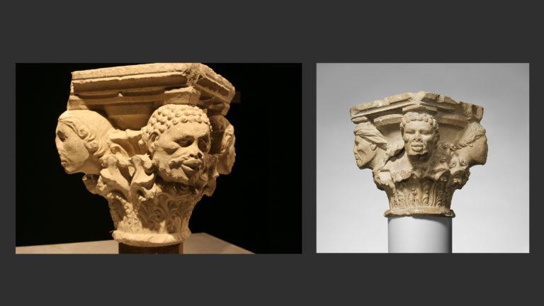 Капитель из Трои, возможно, из императорского дворца. Апулия