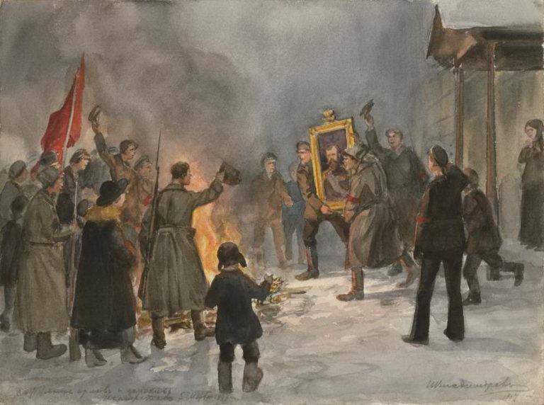 Сожжение орлов и царских портретов 5 марта 1917 г. 1917