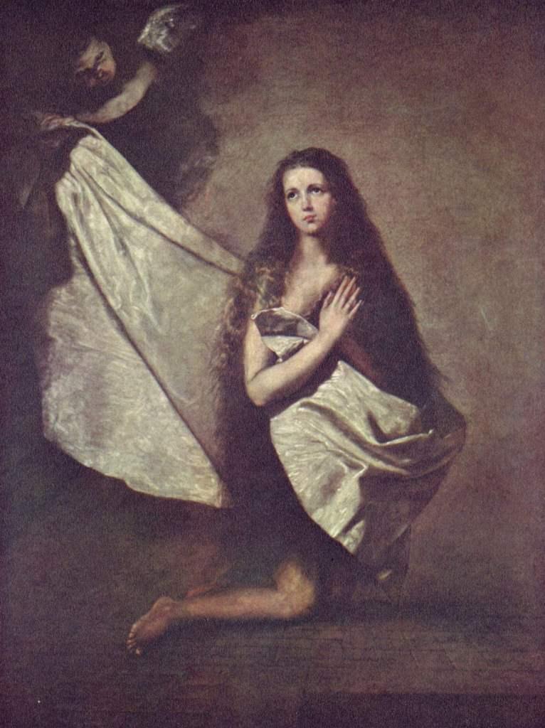 Святая Инесса и ангел, укрывающий её покрывалом. 1641