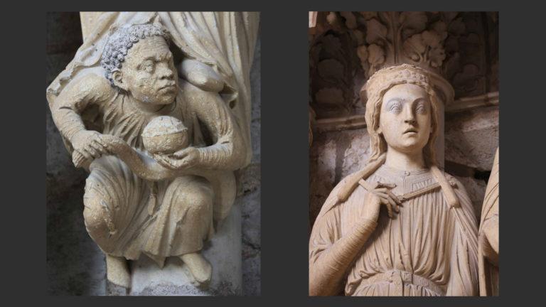 Царица Савская и ее раб. Ок. 1210