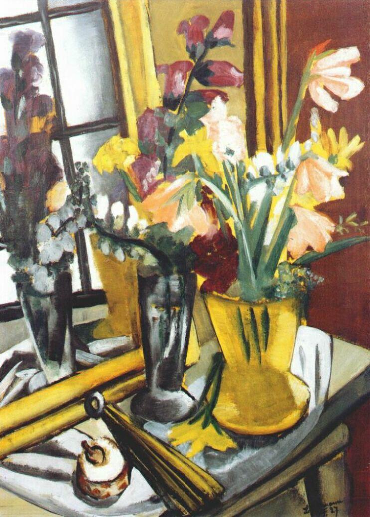 Цветочный натюрморт с зеркалом