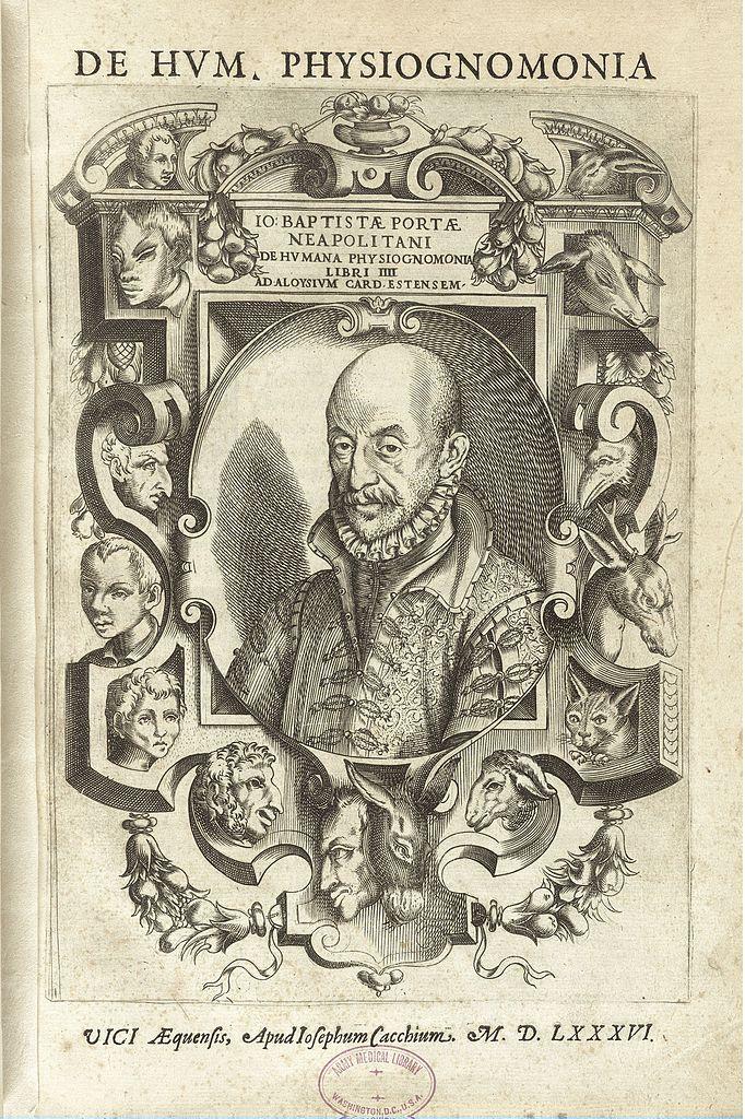 Титульный лист книги «О человеческой физиогномике». 1601