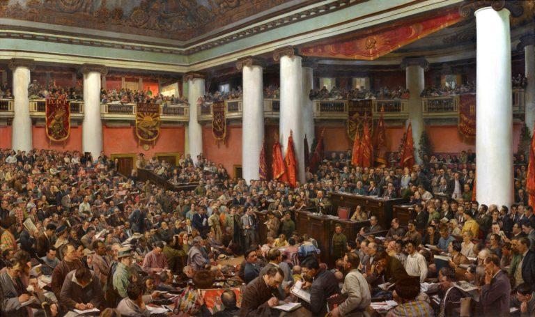 Торжественное открытие II конгресса Коминтерна во дворце Урицкого в Ленинграде. 1920–1924