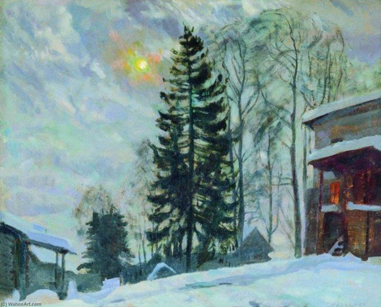 Усадьба зимой. 1918