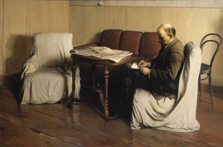 В.И. Ленин в Смольном в 1917 году. 1930