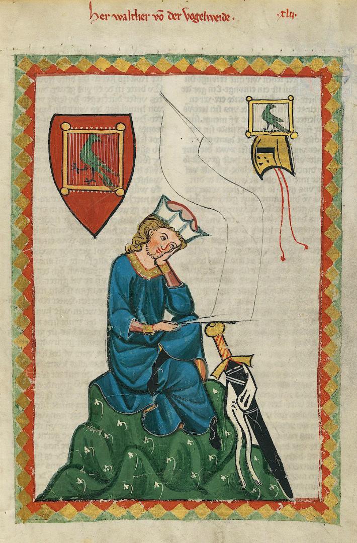 Вальтер фон дер Фогельвейде (нем. Walter von der Vogelweide, ок. 1160-1230). Ок. 1300 г.