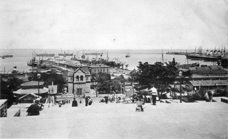 Вид на одесский порт. 1910-е