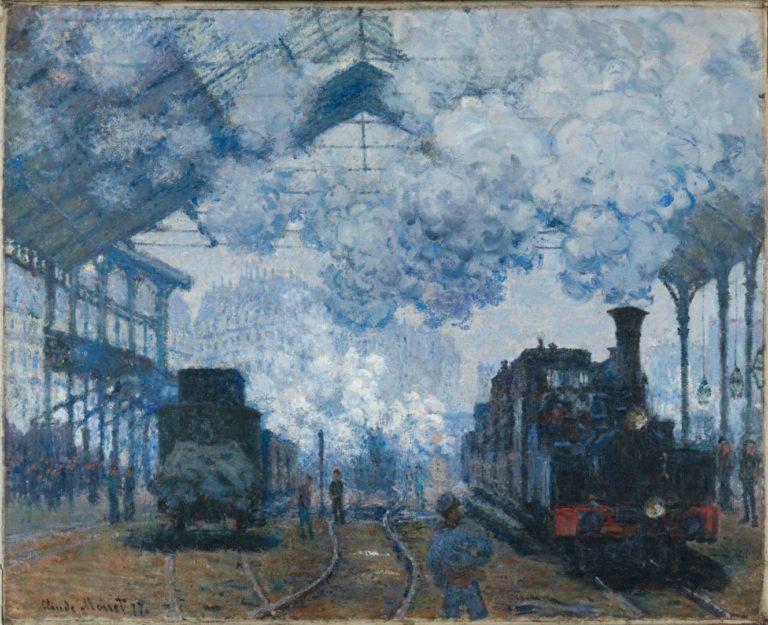 Вокзал Сен-Лазар, прибытие поезда. 1877