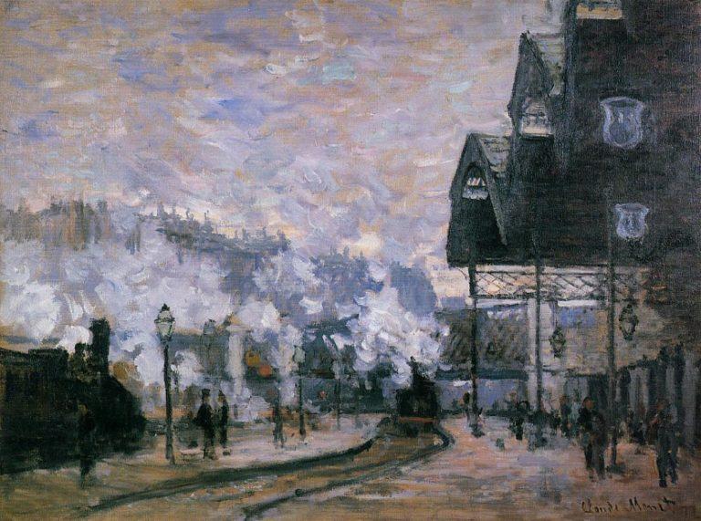 Вокзал Сен-Лазар, вид снаружи. 1877