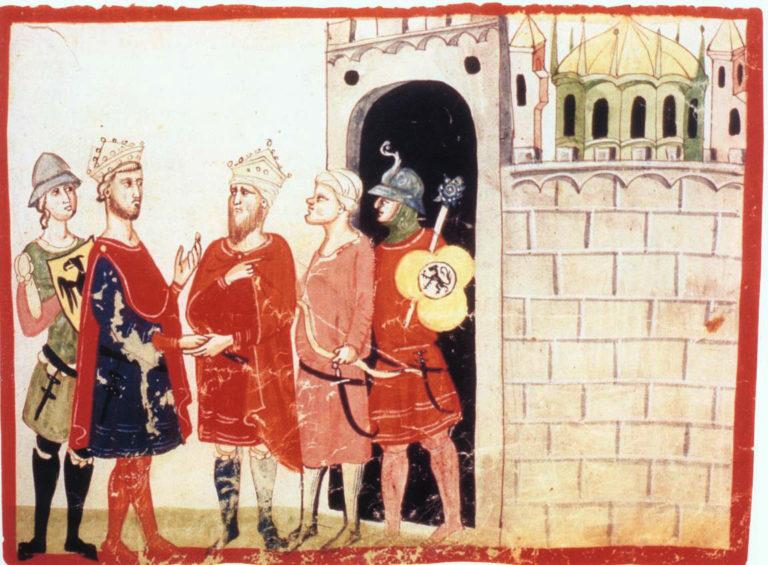 Встреча Фридриха II с аль-Камилем. 1341–1348