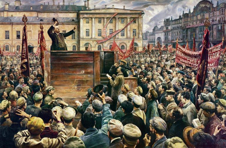 Выступление В. И. Ленина на проводах частей Красной Армии на польский фронт 5 мая 1920 года. 1933
