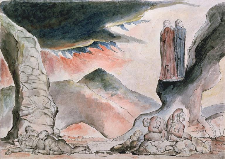 Яма страданий: фальсификаторы. Иллюстрация к «Божественной комедии». 1827