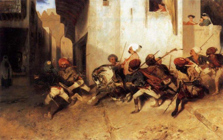 Янычары патрулируют Смирну. 1831