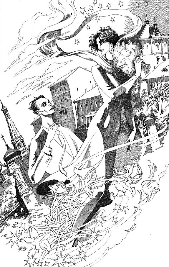 Явление героя. Иллюстрация к роману «Мастер и Маргарита». 1997