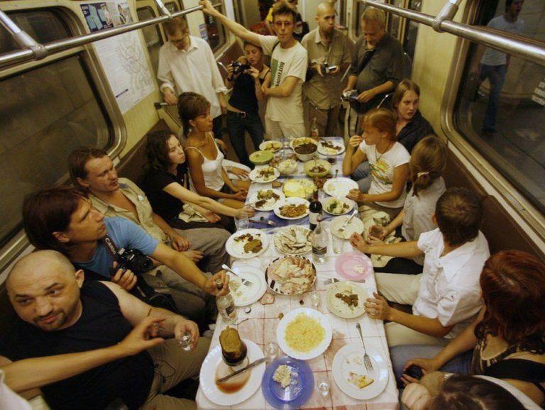 Акция «Пир» (поминки по Дмитрию Пригову). Москва, 24–25 августа 2007