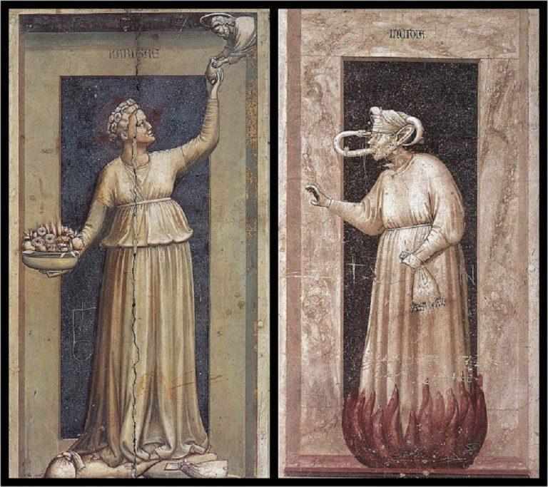 Аллегории Милосердия и Зависти. 1303–1305