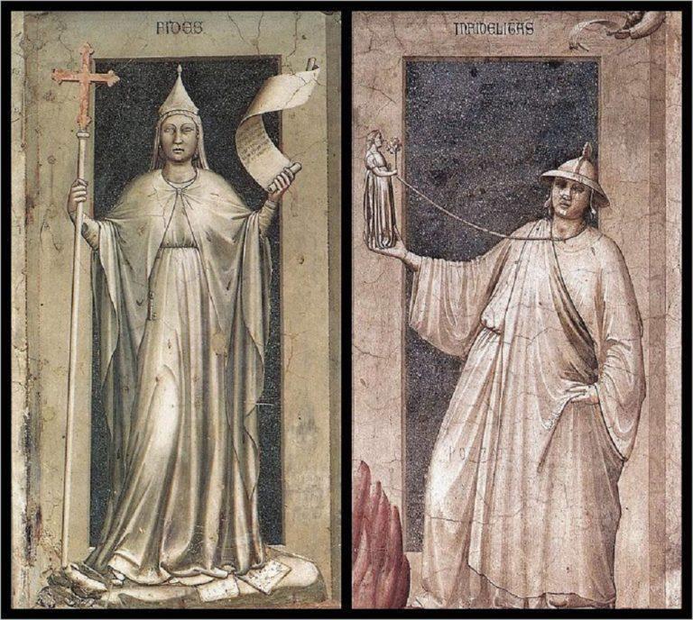 Аллегории Веры и Неверия. 1303–1305
