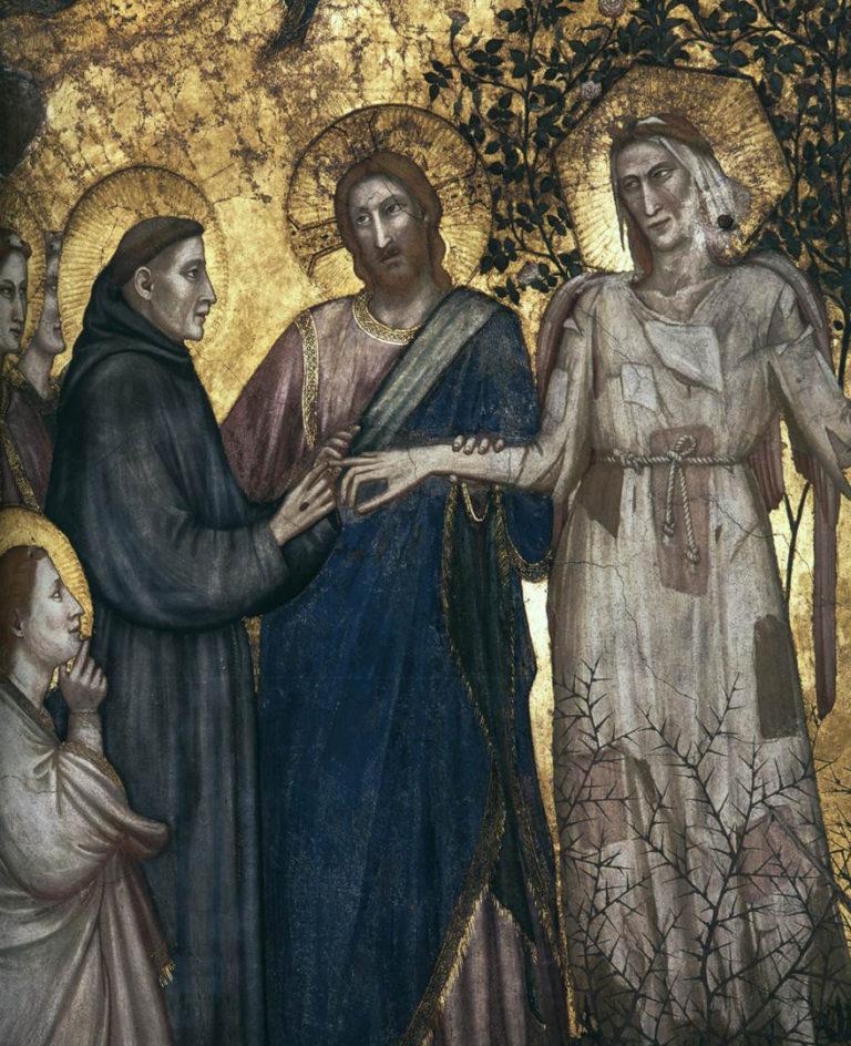 Аллегория Бедности (Св. Франциск обручается с Бедностью). Фрагмент. Ок. 1315–1320