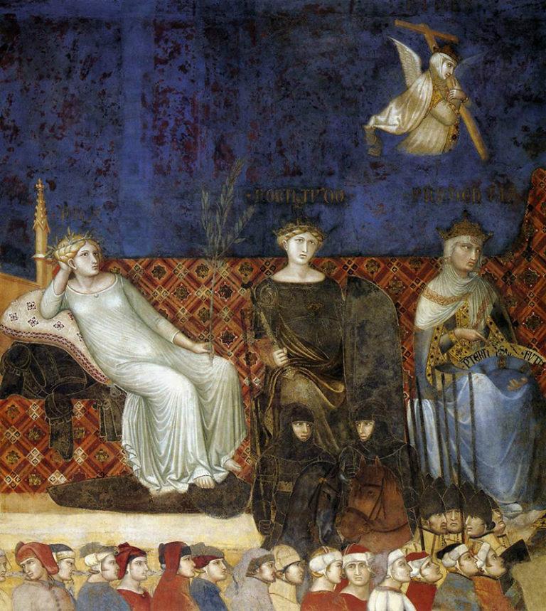 Аллегория доброго правления. Фрагмент. Аллегория Миролюбия. 1337–1339