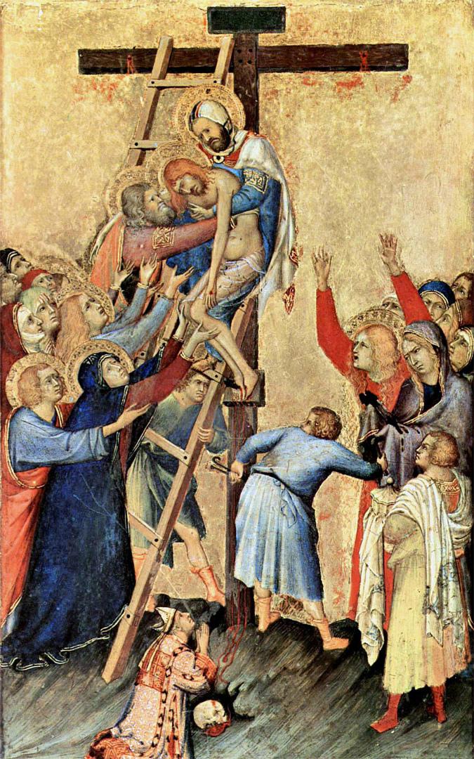 Алтарь Орсини. Снятие с креста. 1333–1337