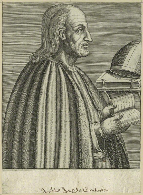 Ансельм Кентерберийский (итал. Anselmo d'Aosta,1033–1109). XVI в.