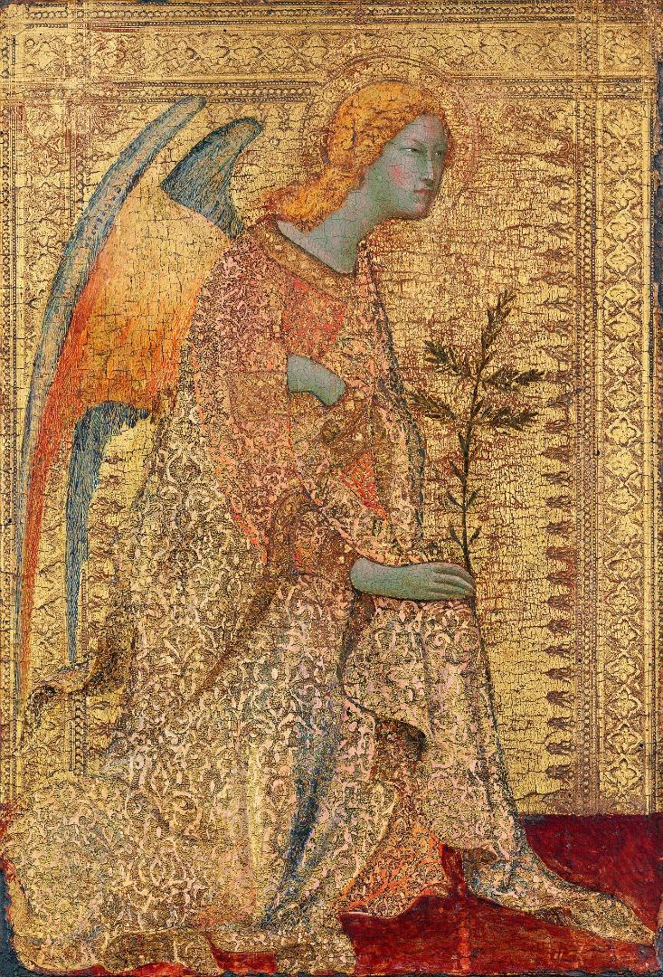 Архангел из сцены «Благовещение». 1340–1344
