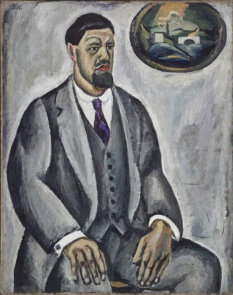 Автопортрет в сером. 1910